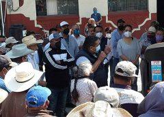 Se manifiestan usuarios del módulo de riego contra alcalde de Progreso de Obregón